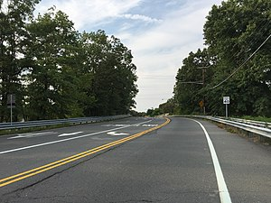 New Jersey Route 64 - Route 64 heading northbound in West Windsor towards Penns Neck