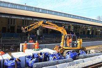 Bath Spa railway station - Rebuilding the platforms in 2017