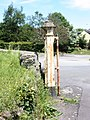 2017 at Moretonhampstead station - gate post.JPG
