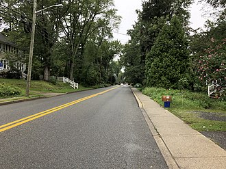 Haworth, New Jersey - County Route 39 (Schraalenburgh Road) in Haworth