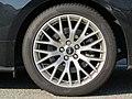 2018-10-22 (725) Pirelli P Zero 255-40 ZR 19 96 Y tires of Ford Mustang at Bahnhof Irnfritz, Irnfritz-Messern, Austria.jpg