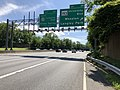 2019-05-27 15 31 18 View west along the outer loop of the Capital Beltway (Interstate 495) at Exit 29 (Maryland State Route 193-University Boulevard, Wheaton, Langley Park) on the edge of Silver Spring and Four Corners in Montgomery County, Maryland.jpg
