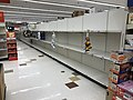 2020-03-13 22 34 45 Bare shelves due to panic buying in the Giant supermarket at the Franklin Farm Village Shopping Center in the Franklin Farm section of Oak Hill, Fairfax County, Virginia during the COVID-19 corona virus pandemic.jpg