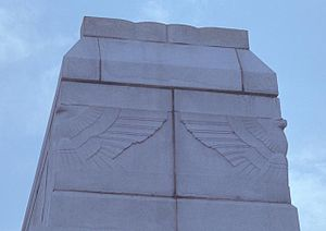 Calvin Coolidge Bridge - Art deco eagle detail