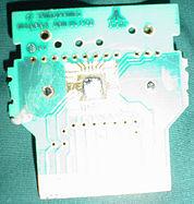 An Atari 2600 game cartridge circuit board