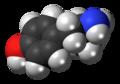 4-Hydroxyamphetamine molecule spacefill.png