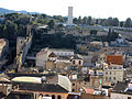487 Muralla de Santa Clara i fort de la Victòria (Tortosa), des de la Suda.JPG