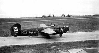 """RAF Lavenham - Ford B-24H-15-FO Liberator Serial 42-52618 """"Chief Wapello"""" of the 839th Bomb Squadron. This aircraft was later transferred to 44th Bomb Group and crashed in the Netherlands on 28 January 1945."""