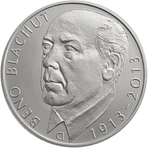 Commemorative coins of the Czech Republic - Image: 500 Kc 2013 Blachut