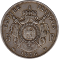 5 Francs Napoléon III 1856 revers.png