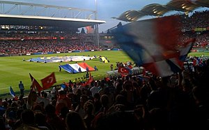 Turkey national football team - Turkey against France on 5 June 2009.