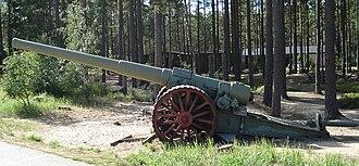 BL 6-inch Mk VII naval gun - Image: 6inch BL gun Lappohja 3