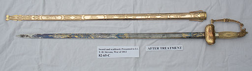 82-65-C Presentation Sword, LT Thomas Holdup Stevens, War of 1812. (7074296553)