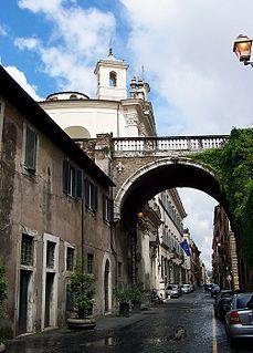 Via Giulia thoroughfare in Rome, Italy