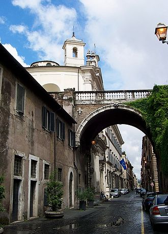 Via Giulia - via Giulia, near Palazzo Farnese, looking northwest.