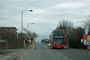 99 bus on Manor Road - geograph.org.uk - 2833932.jpg