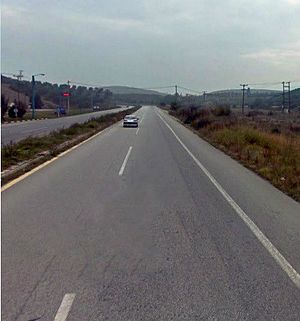 A12 before the city of Volos, Greece.jpg