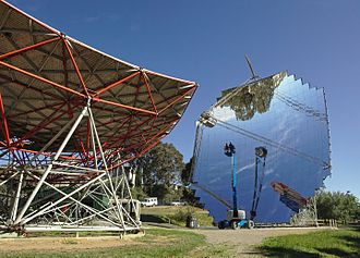 Australian National University - Paraboloidal dish for concentrated solar power at ANU