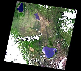 Elmenteita Badlands - Satellite image of the surrounding area from the ASTER Volcano Archive