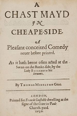 A Chaste Maid in Cheapside - Title page of A Chaste Maid in Cheapside.