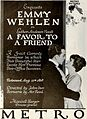 A Favor to a Friend (1919) - Ad.jpg