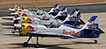 A Red Bull Squadron gets ready to take off during Aero India 2013, at Yelahanka in Bangalore on February 08, 2013.jpg