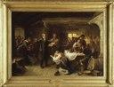 A Revivalist Disturbs the Merrymaking (Bengt Nordenberg) - Nationalmuseum - 18776.tif