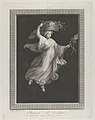 A bacchante carrying a large basket on her head and holding a staff in her left hand, set against a black background inside a rectangular frame MET DP842055.jpg
