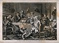 A drunken party with men smoking, sleeping and falling to th Wellcome V0019473.jpg
