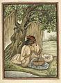 A snake-charmer of the Sapera caste - Tashrih al-aqvam (1825), f.323v - BL Add. 27255.jpg