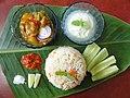 A traditional indian dish of bengal(pulao-mangsha with misti doi).jpg