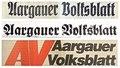 Aargauer Volksblatt, Titel im Wandel der Zeiten.tif
