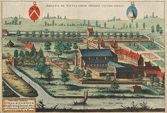 Wevelgem - Image: Abdij van Wevelgem 1641