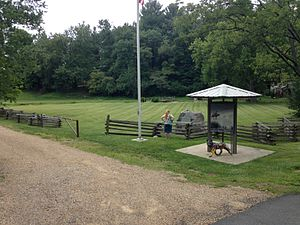 Overmountain Men - Abingdon Muster Grounds - The northern trailhead of the 330-mile long Overmountain Victory National Historic Trail.