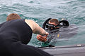 Able Diver Darren Shea, with the New Zealand navy Operational Dive Team, gets pulled on board after completing a mine countermeasure exercise during Dawn Blitz 2013 at Marine Corps Base Camp Pendleton, June 12 130612-M-BZ222-005.jpg