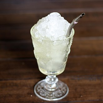 Absinthe - An absinthe frappé, a common way to serve absinthe with simple syrup, water, and crushed ice