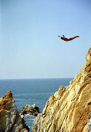 La Quebrada Cliff Divers - A cliff diver