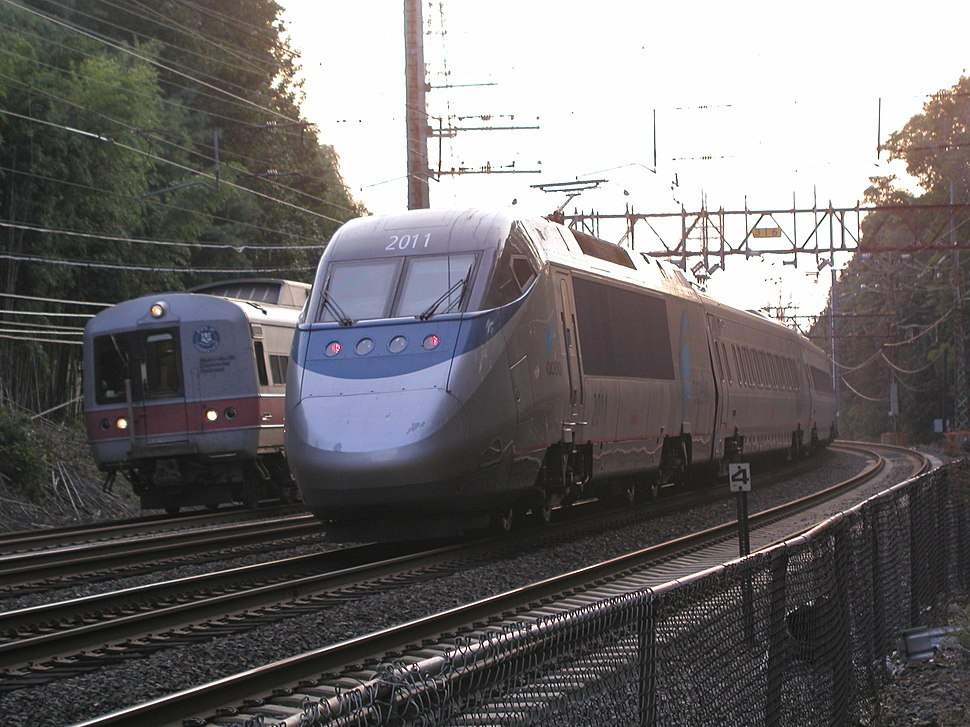 Acela Express and Metro-North railcar
