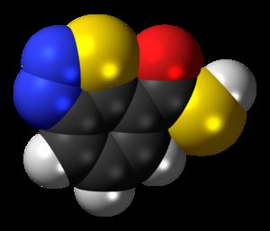 Acibenzolar - Image: Acibenzolar 3D spacefill