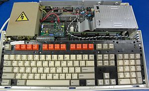 Acorn Archimedes - Acorn Archimedes A3000 computer with cover removed