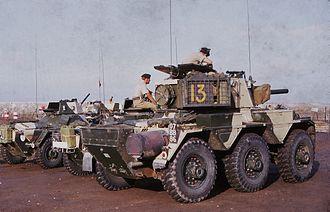 Aden Emergency - Saladin Armoured Cars of the Queens Dragoon Guards in Aden 1967