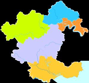 Jieyang - Image: Administrative Division Jieyang 2