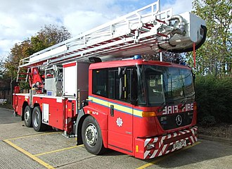 London Fire Brigade appliances - A Mercedes Aerial Ladder Platform, Registered in 2007