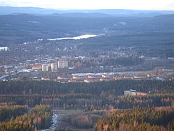 Aerial view of Hagfors in 2006