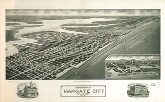 Margate City, New Jersey - Panoramic map of Margate City (1925)