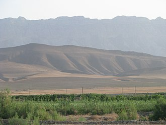Kopet Dag - View on the Kopetdag mountains from the Ahal plain.
