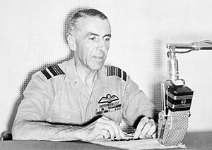 Richard Peirse - Peirse broadcasting over the radio during the Second World War