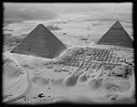 Air views of Palestine. Cairo and the pyramids. The two largest pyramids of Gizeh. Taken from the west LOC matpc.15914.jpg