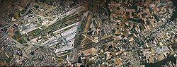 Satelietfoto van de luchthaven