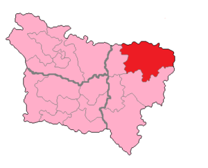 Aisne's 3rd constituency - Aisne's 3rd Constituency shown within Picardie